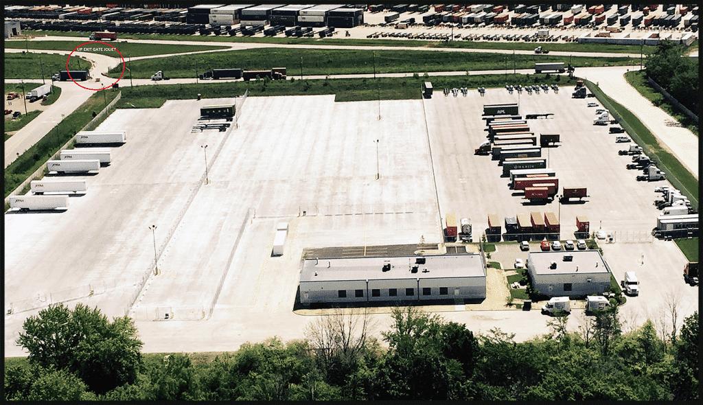 Joliet Truck Parking Arial Photo