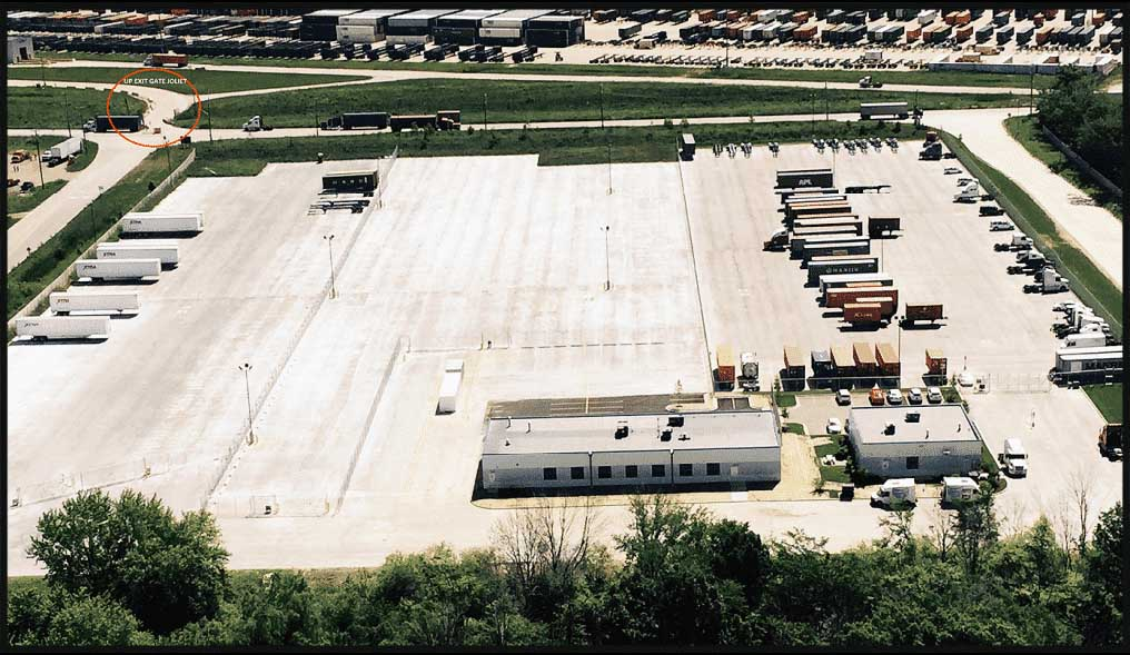 Joliet Truck Parking Arial
