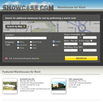Showcase Warehouse For Rent