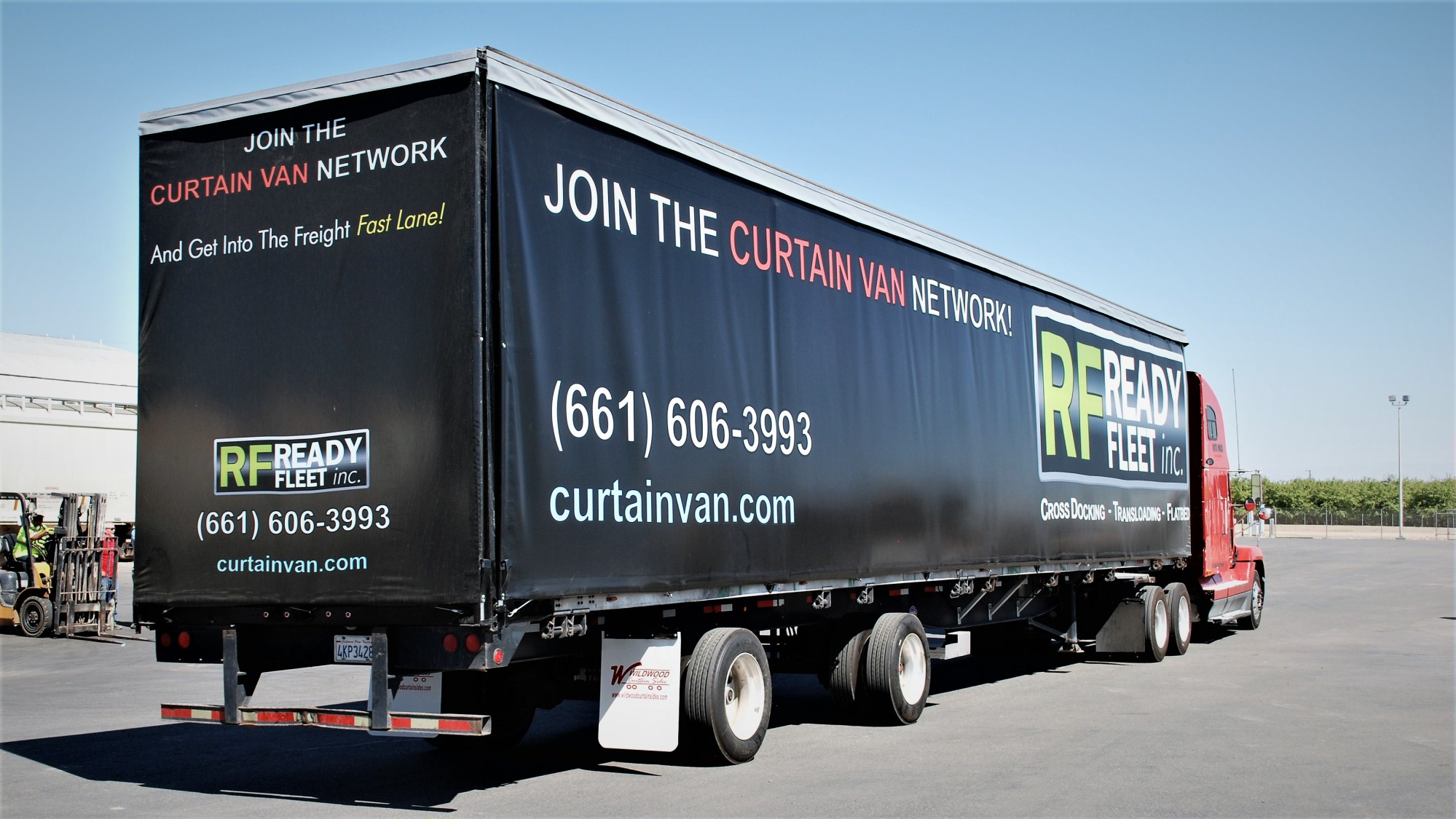Curtainside Trailer Freight Ready Fleet
